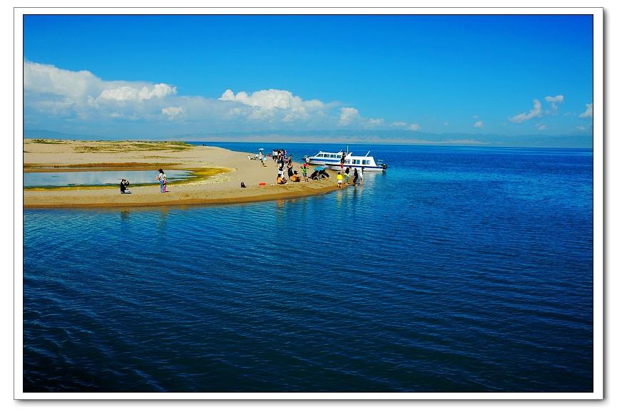 碧水蓝天青海湖