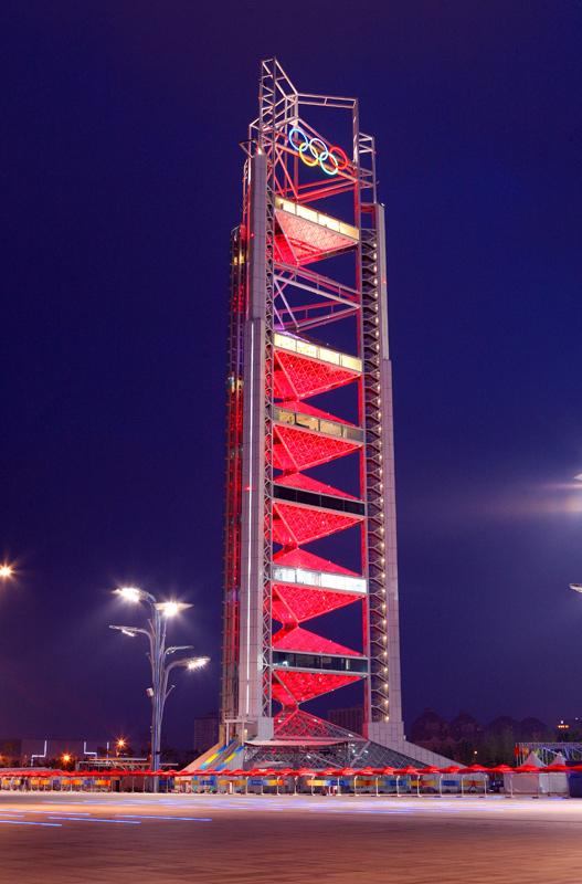 奥林匹克公园玲珑塔夜景