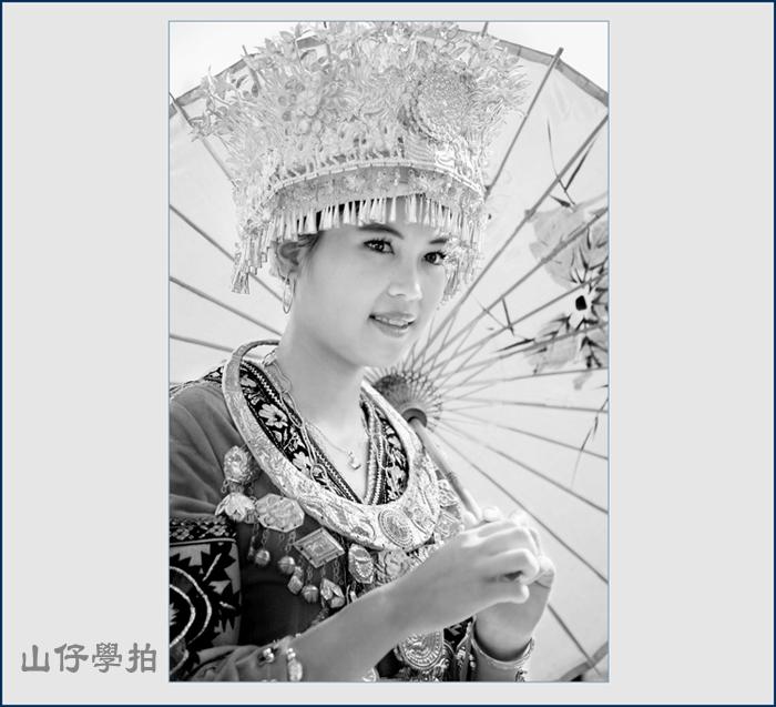 手绘苗族美女图片