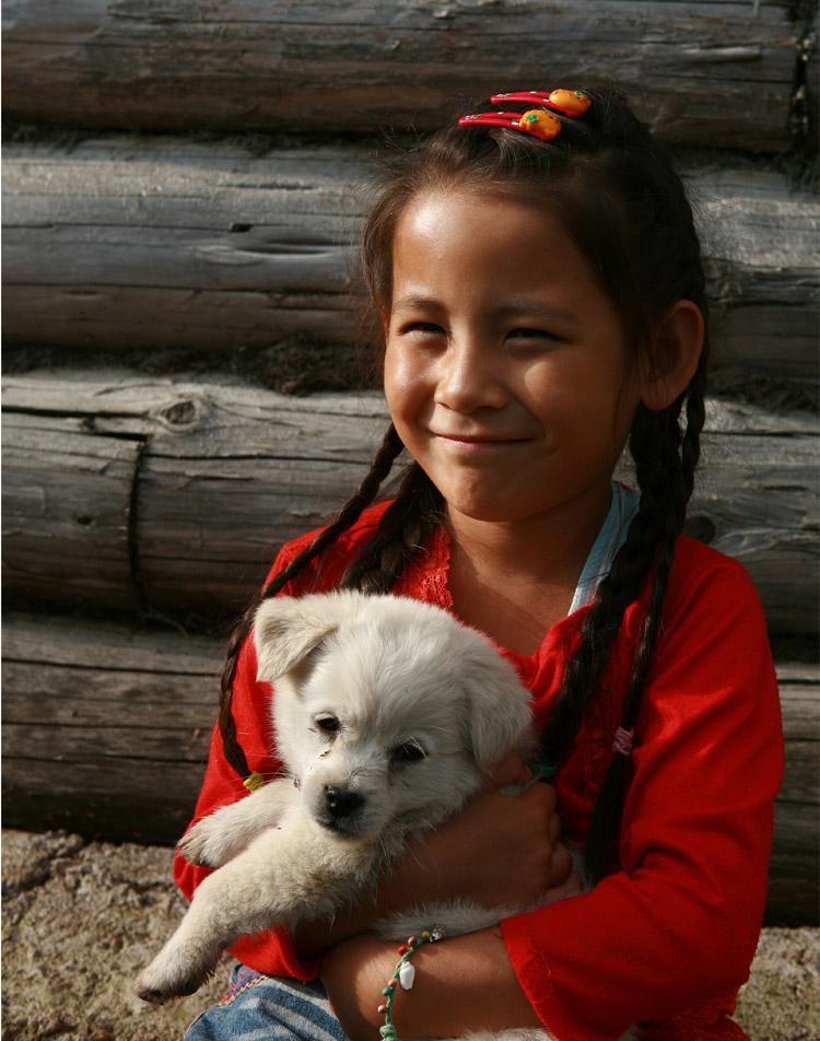俄罗斯族小姑娘