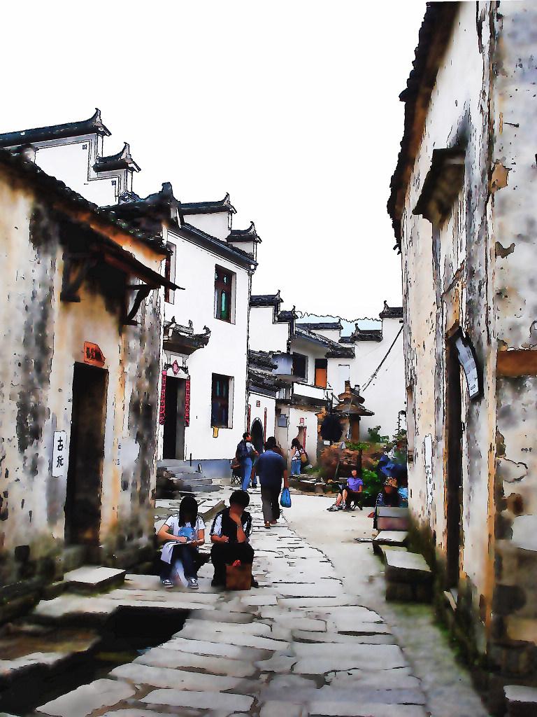 壁纸 风景 古镇 建筑 街道 旅游 摄影 小巷 768_1024 竖版 竖屏 手机