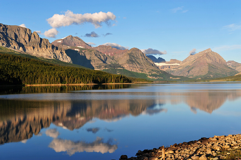 美国冰川国家公园之风景--湖光山色