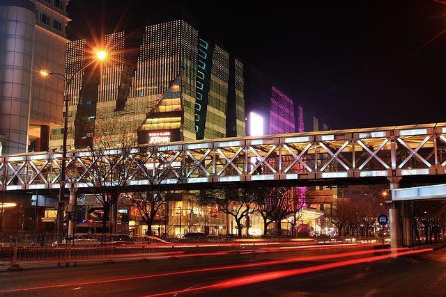 北京商业街夜景,小镇商业街夜景,香港商业街 铜锣湾