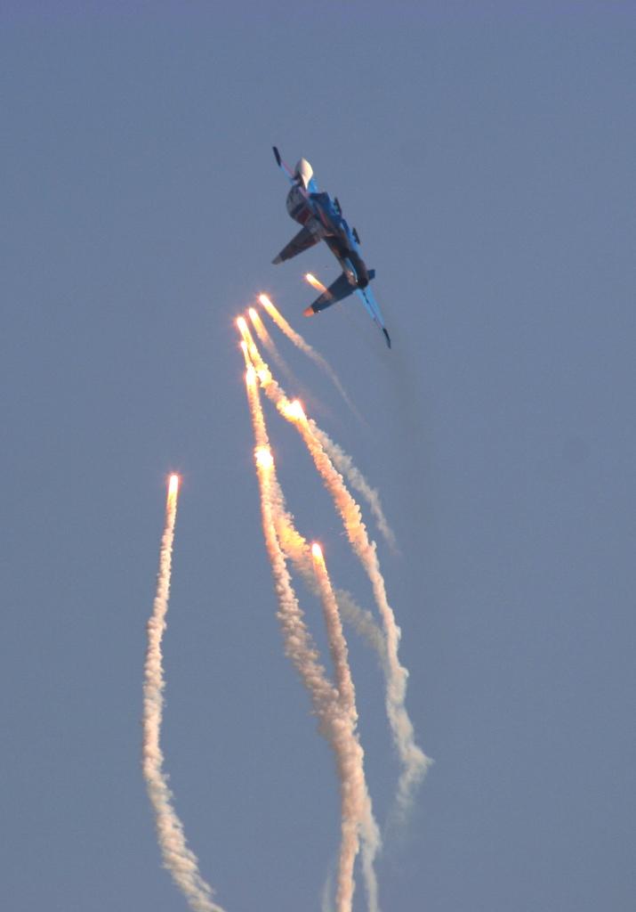 俄罗斯苏27勇士飞行表演队