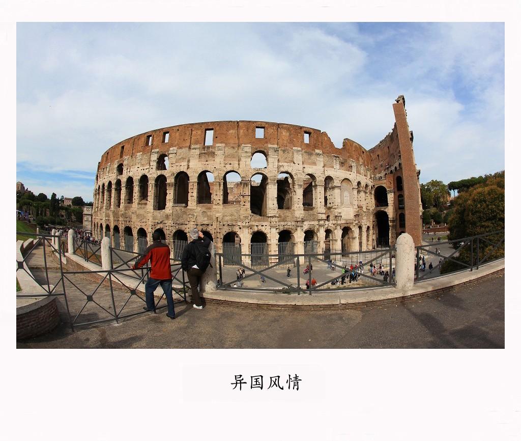 罗马建筑钢笔画