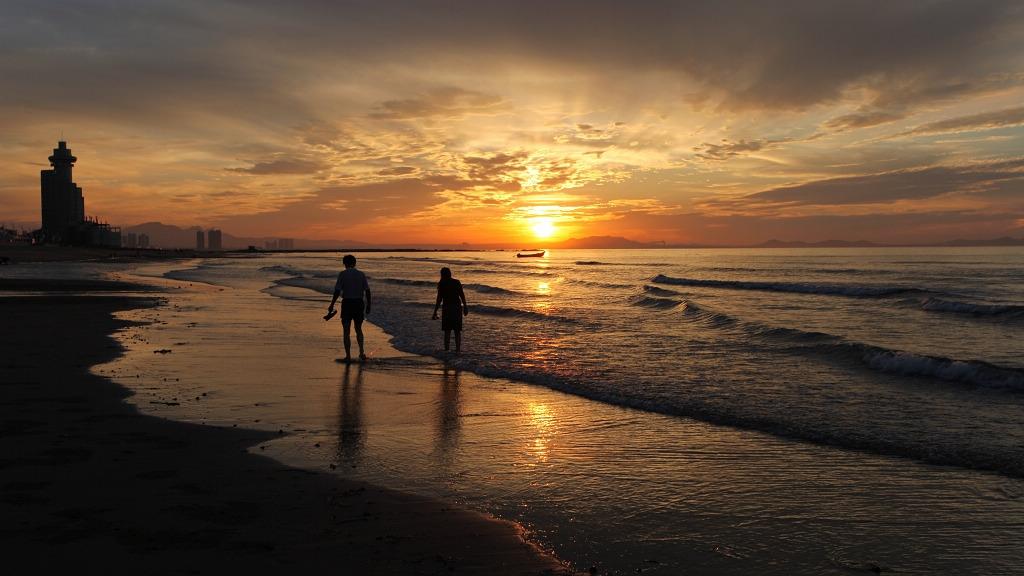唯美意境夕阳背影图-唯美意境 云水禅心