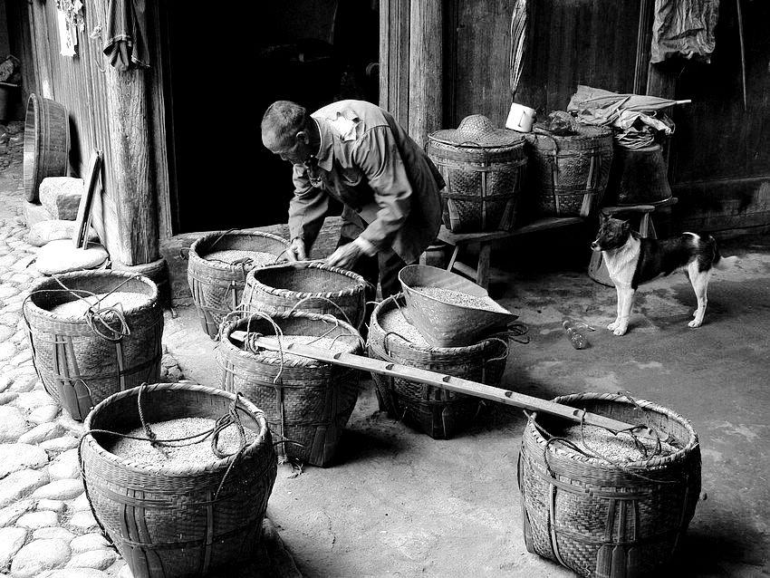 30年代乡村生活的农家图片