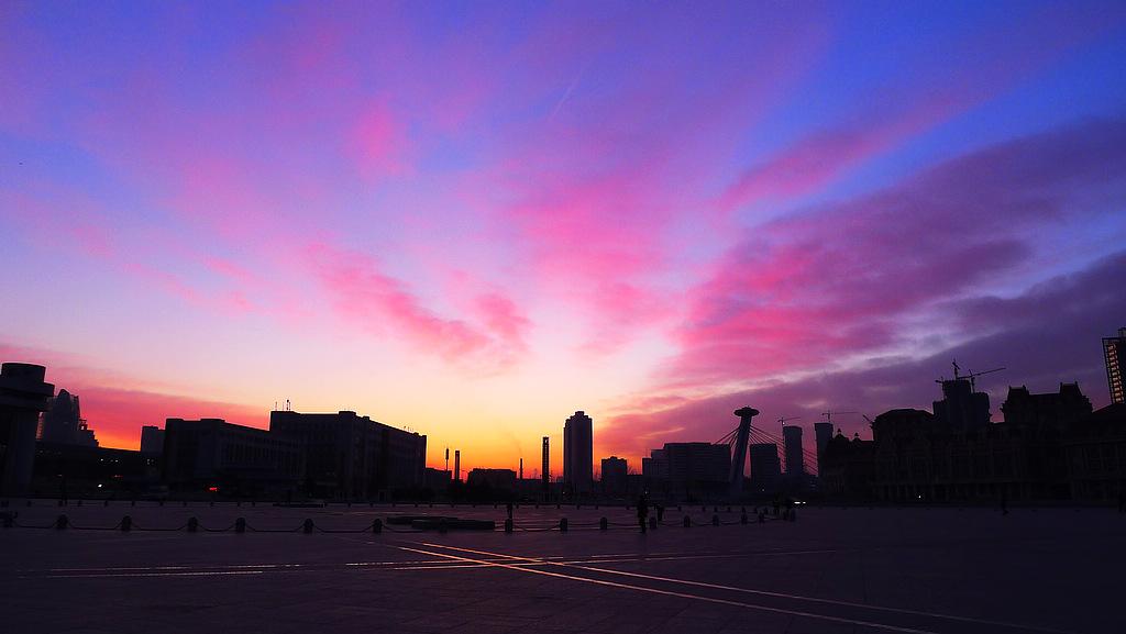 城市风景图片 黎明