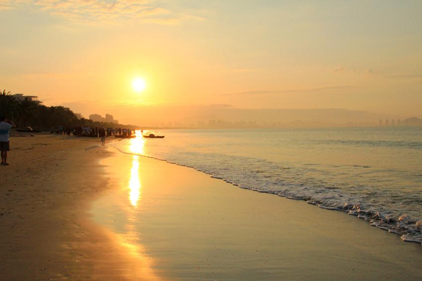 唯美图片日出海边