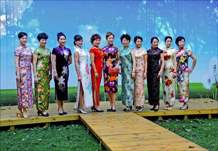 北京中老年模特旗袍