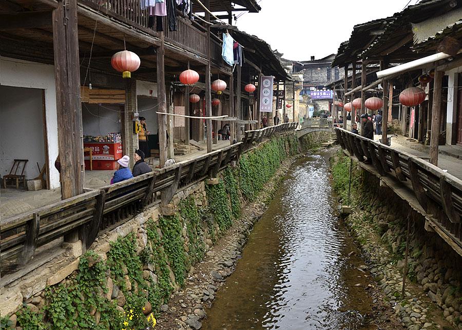 壁纸 风景 古镇 建筑 街道 旅游 摄影 小巷 900_643