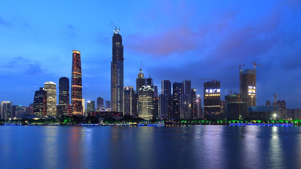 广州夜景----魅力双塔