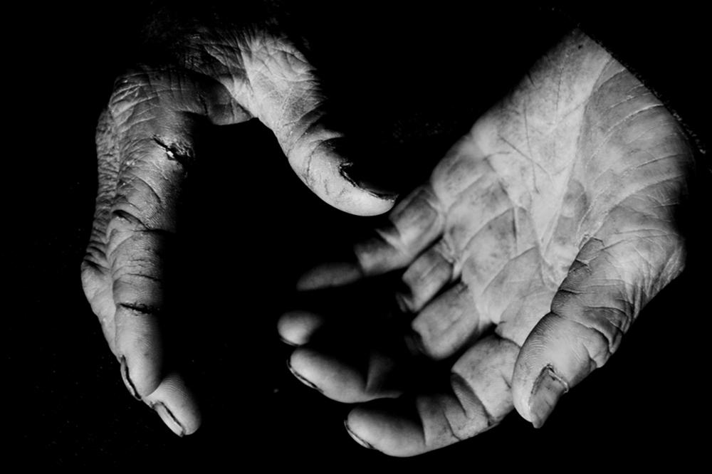 劳动者的手