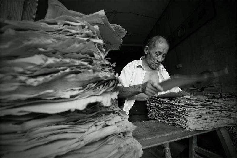 古法造纸术(二) 分纸