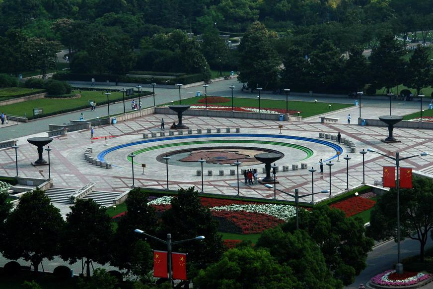 上海人民广场音乐喷水池