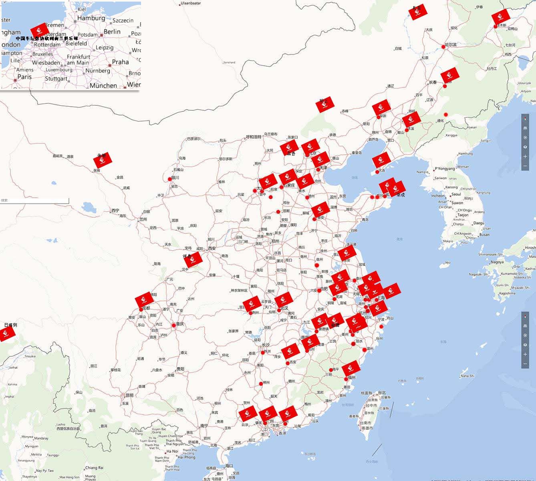 浙江到哈尔滨地图