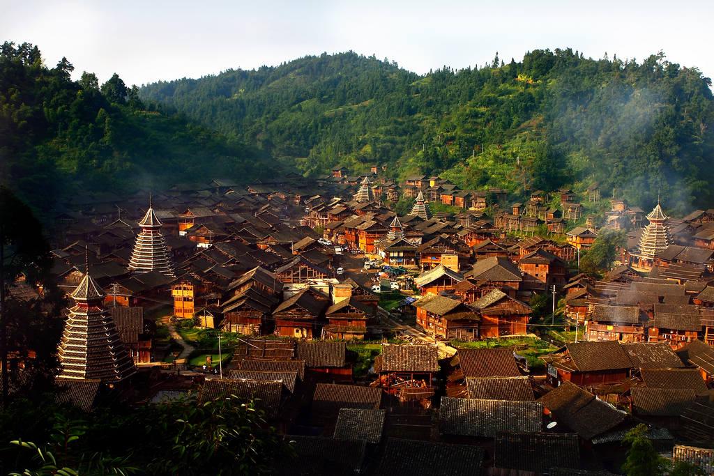 侗寨鼓楼图片 侗寨鼓楼,风景图片,旅游风光
